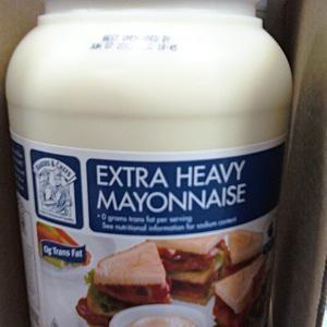 Extra heavy mayonnaise.