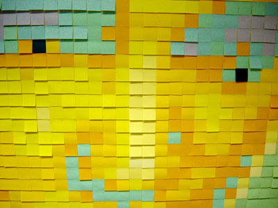 elvis post-it mosaic